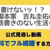 書けないッ!?~脚本家 吉丸圭佑の筋書きのない生活~見逃し動画